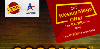 Jazz Weekly Mega Offer 3000 MBs Internet for Pakistan
