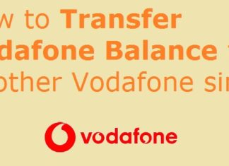 Working Vodafone balance transfer USSD codes