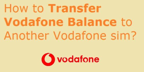 Working Vodafone USSD Codes for Balance Transfer Number