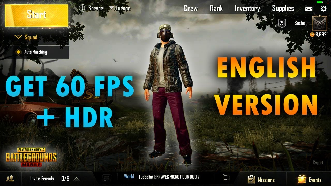 PUBG Emulator: Unlock 60FPS And HDR Graphics